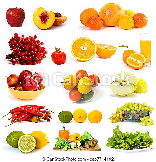 grønsager, samling, frugter - csp7714192