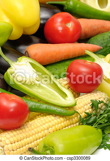 grønsager, samling - csp3300089