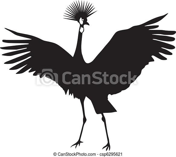 Grulla coronada africana - csp6295621