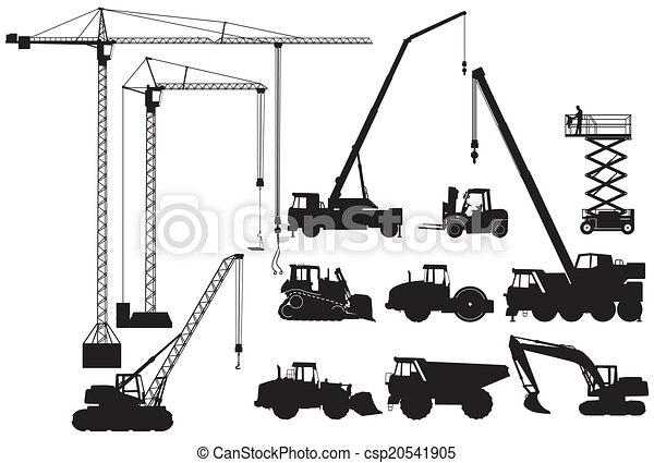 Máquinas terrestres y grúa - csp20541905