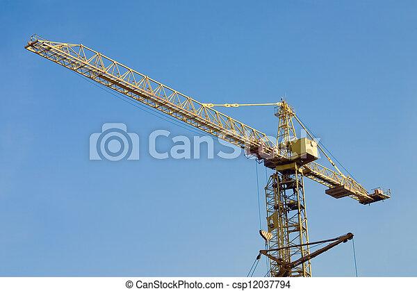 Flecha de la grúa de la torre - csp12037794