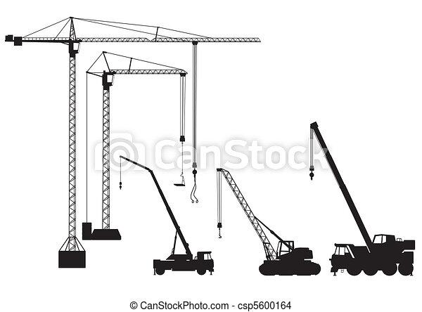 grúa, truck-mounted, torre - csp5600164