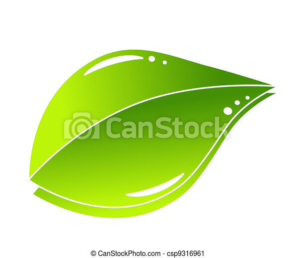 Grünes Naturblattkonzept - csp9316961