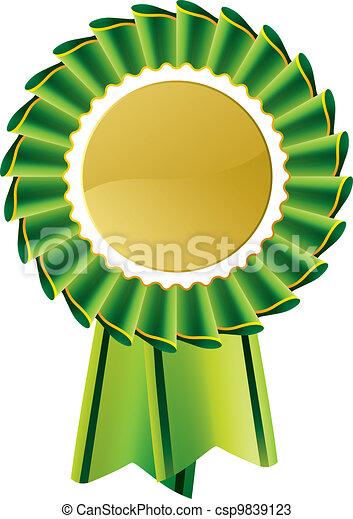 Green Rosette Award Medaille - csp9839123