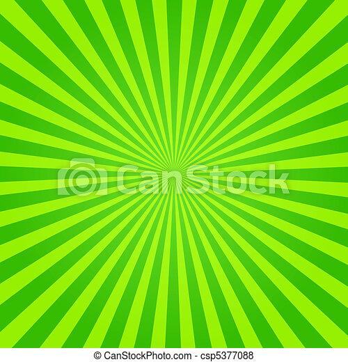 Grüner und gelber Sonnenstrahl - csp5377088