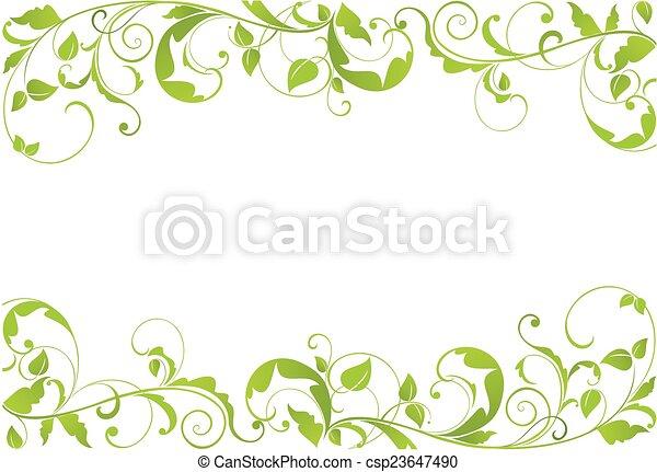 grün, umrandungen - csp23647490