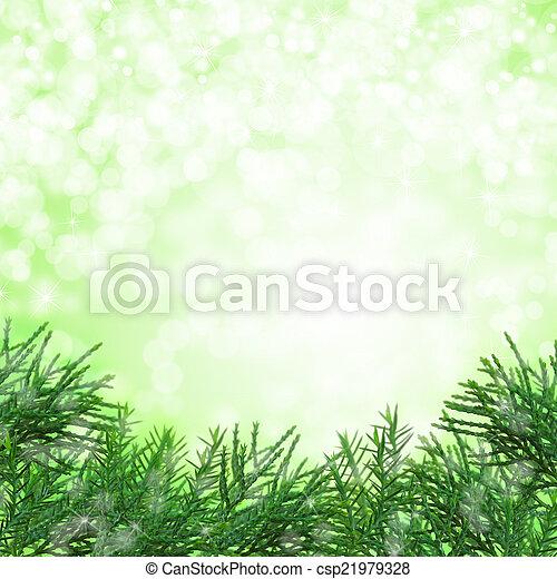 grün, weihnachten, hintergrund - csp21979328