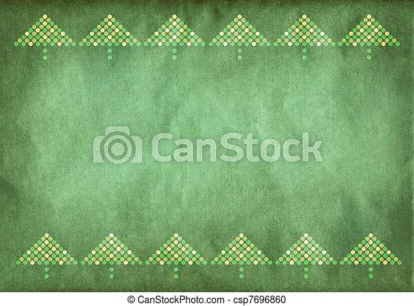 grün, weihnachten, hintergrund - csp7696860