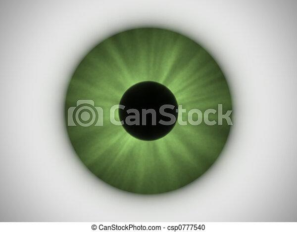 grünes auge - csp0777540