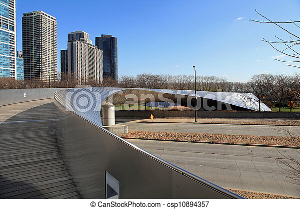 Graceful pedestrian bridge - csp10894357