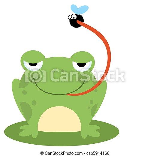 Rana atrapando bichos - csp5914166