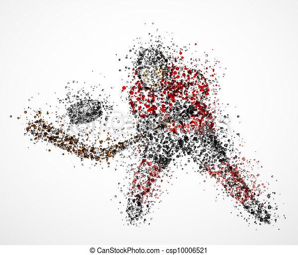 gracz, abstrakcyjny, hokej - csp10006521