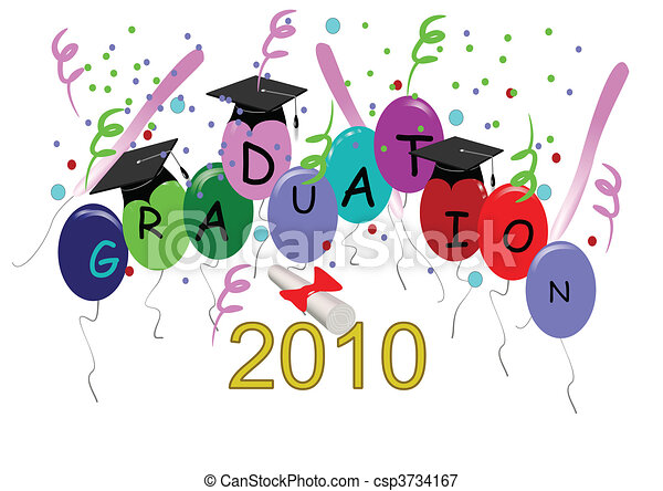 Grad Celebration Card For Graduation On White In 3d
