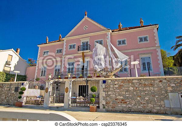 grad, ilha, stari, arquitetura, hvar - csp23376345