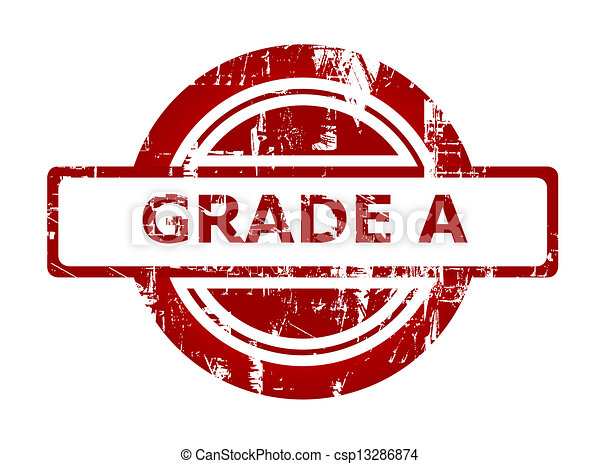 Grade A red stamp - csp13286874