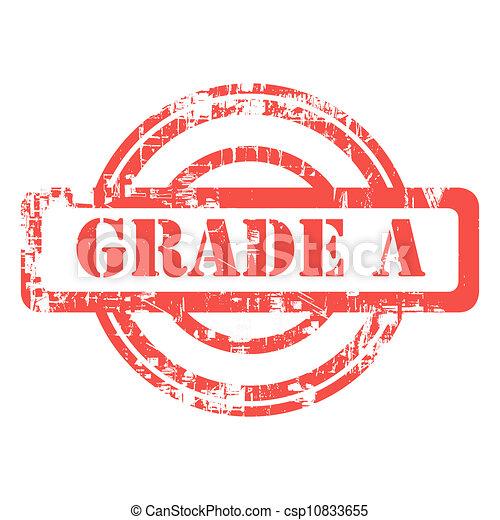 Grade A stamp - csp10833655