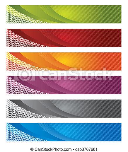 gradient, bannières, numérique, lignes, & - csp3767681