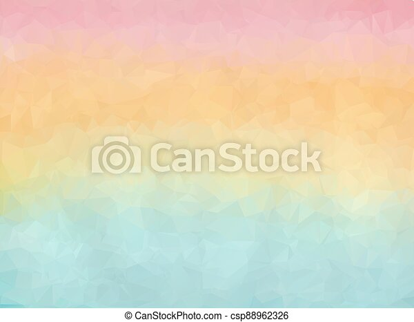 Gradient blue, orange and pink polygon background - csp88962326