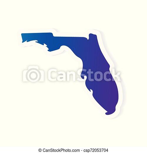 gradient Florida map- vector illustration - csp72053704