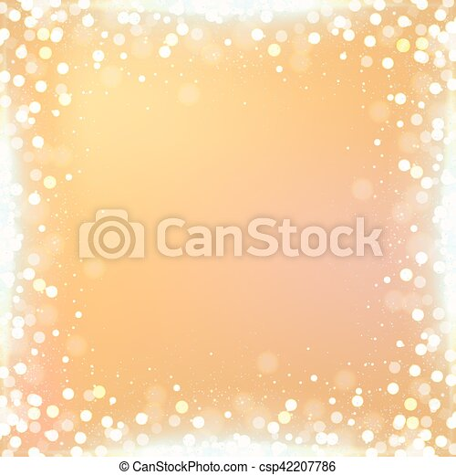 Gradient gold square background with bokeh border - csp42207786