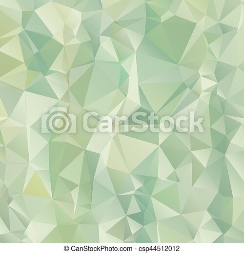 Gradient green of triangle polygon pattern background