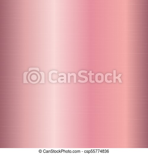 Gradient Metal Pink Gold Plate With A Pink Gold Texture Vector