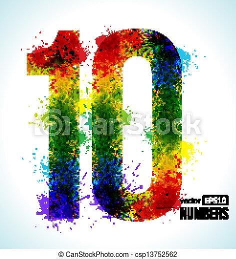 gradient vector number 10 color paint splashes gradient vector