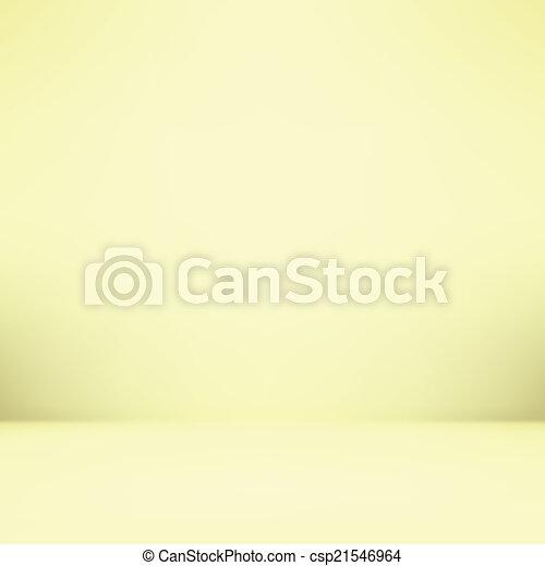 gradient wall and flat floor in empty spacious room interior - csp21546964