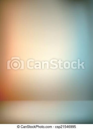 gradient wall and flat floor in empty spacious room interior - csp21546995
