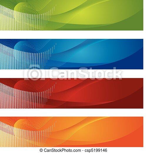 Halftone y banderines gradientes - csp5199146