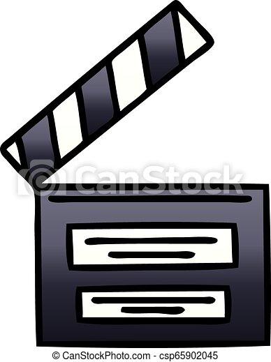 El director de dibujos animados de color brillante - csp65902045