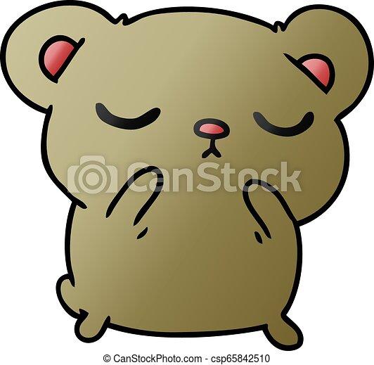 Dibujos de un oso lindo - csp65842510