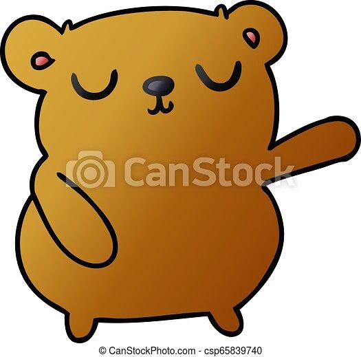 Dibujos de un oso lindo - csp65839740