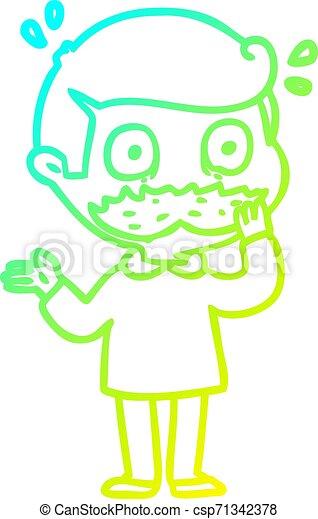 Dibujo de dibujos animados con bigotes - csp71342378