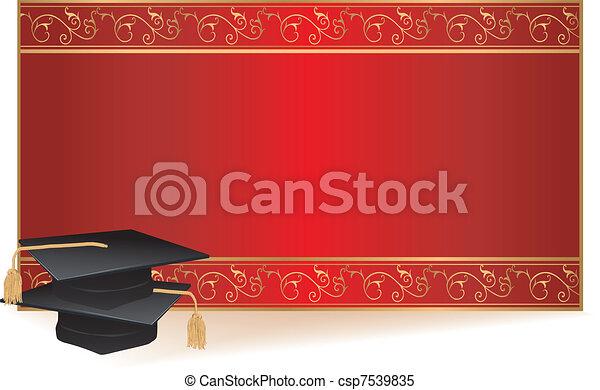 graduação, cartão, convite - csp7539835