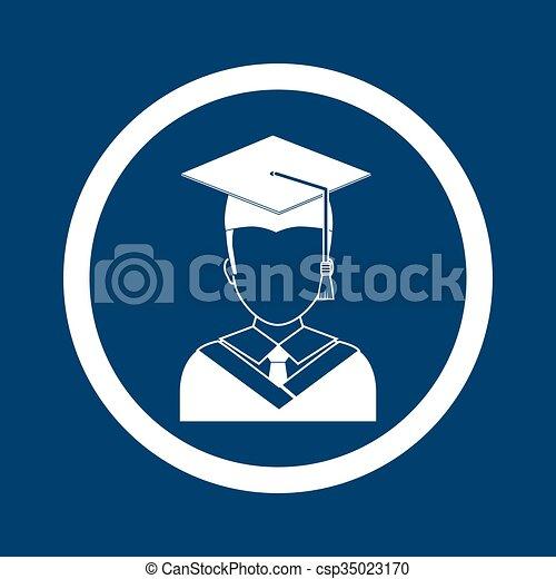 Diseño de iconos de graduación - csp35023170