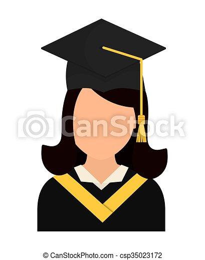 Diseño de iconos de graduación - csp35023172
