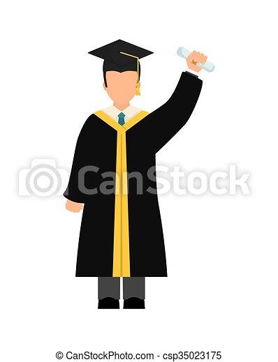 Diseño de iconos de graduación - csp35023175