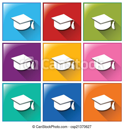 iconos de graduación - csp21370627