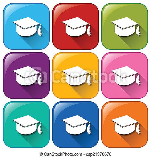iconos de graduación - csp21370670