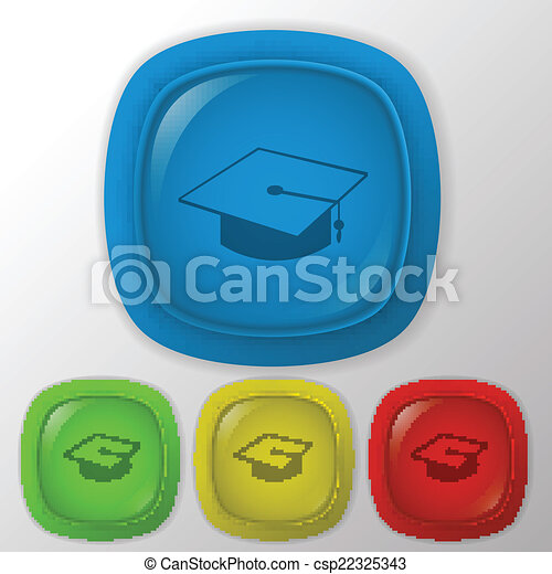graduate hat. Education sign - csp22325343