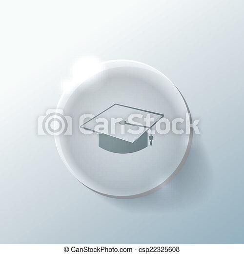 graduate hat. Education sign - csp22325608