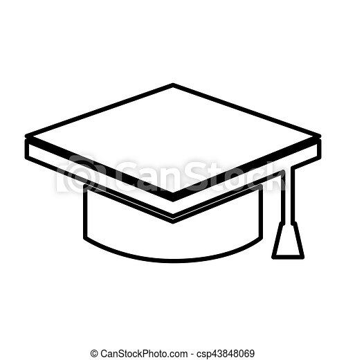 graduate hat isolated icon - csp43848069