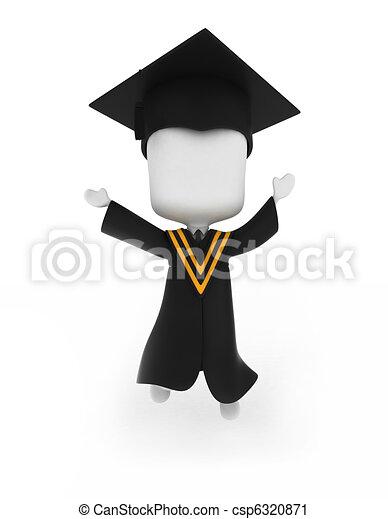 Graduate Jumping Happily - csp6320871
