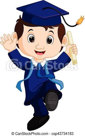 ilustration of graduate student cartoon vector search clip art rh canstockphoto com Graduate School Student Success Clip Art