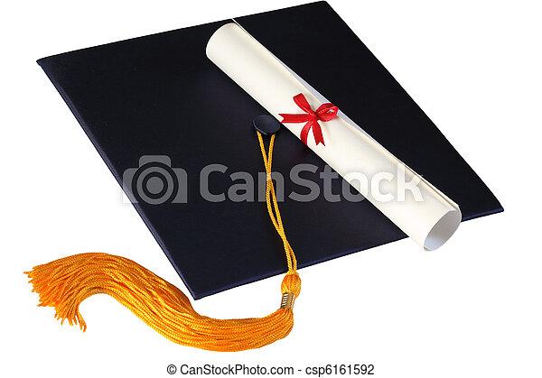 Graduation Cap and Diploma - csp6161592