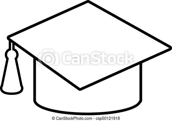 graduation cap icon outline line style graduation cap vector rh canstockphoto com cap vector download cap victor tanker