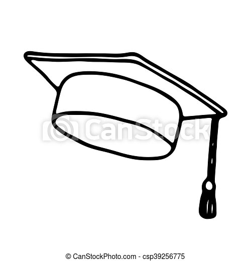 Graduation cap icon  Outlined