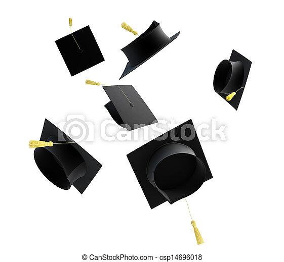 graduation cap isolated  - csp14696018