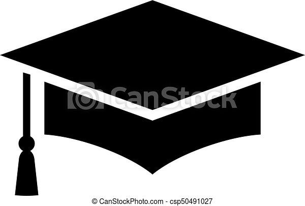 Graduation cap vector icon on white background. cf889fcd2b47